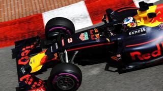Daniel Ricciardo in azione a Montecarlo: suo il miglior tempo delle libere. Getty