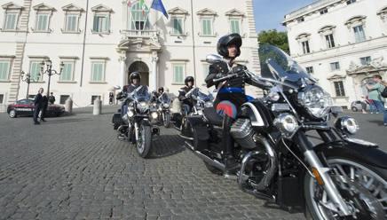 I corazzieri sulle Moto Guzzi California Touring 1400 al Quirinale