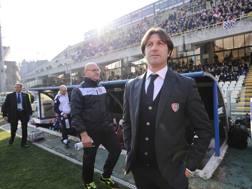 L'allenatore del Cagliari Massimo Rastelli. Lapresse