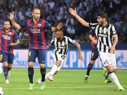 Javier Mascherano, 31 anni, durante la finale Champions con la Juve. Epa