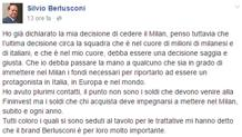 Il post di Silvio Berlusconi su Facebook