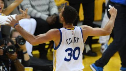 Steph Curry: 31 punti. Afp