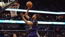 Bryce Dejean-Jones in azione coi Pelicans. Afp