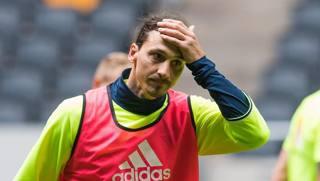Zlatan Ibrahimovic, 34 anni, dal ritiro della Svezia. Afp
