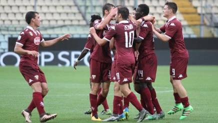 La gioia dei giocatori del Torino per la vittoria contro l'Atalanta. Foto per gentile concessione di Diego Fornero