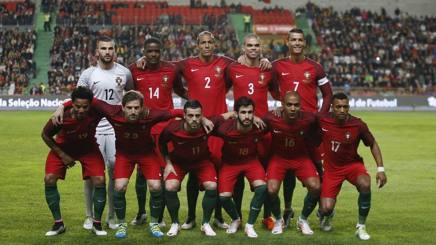 La squadra del Portogallo. Reuters