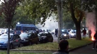 Gli scontri tra tifosi di Torino e Atalanta allo stadio
