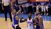 Una penetrazione di Curry. Reuters