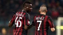 Mario Balotelli, 25 anni, e Jeremy Menez, 29, attaccanti del Milan. Forte Fabrizio