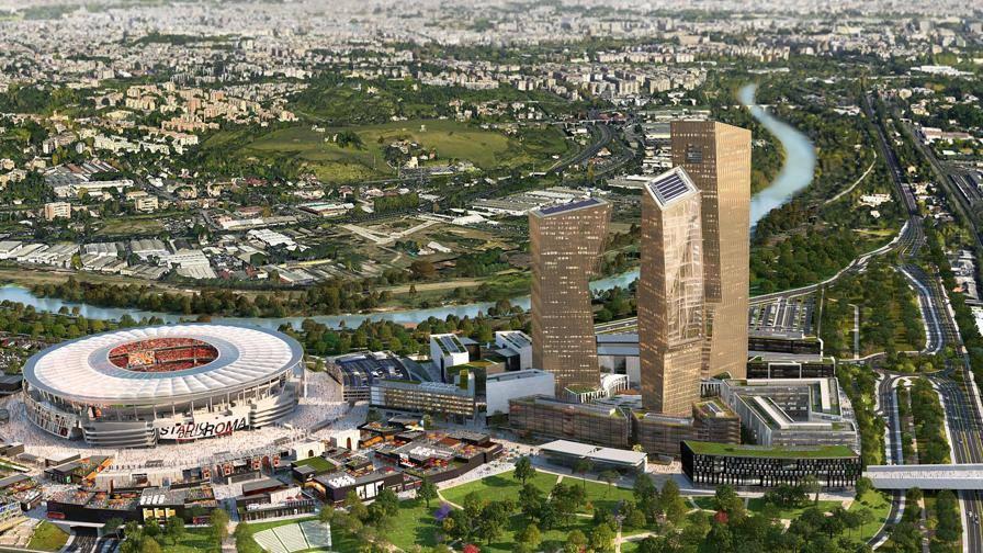 Roma, lo stadio si avvicina Inizio lavori entro il 2017<br/> <b>La struttura...