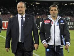 Da sinistra, Rafa Benitez, 56 anni, e Fabio Pecchia, 42. LaPresse