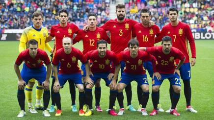 La formazione della Spagna nell'amichevole con la Corea del Sud. Epa