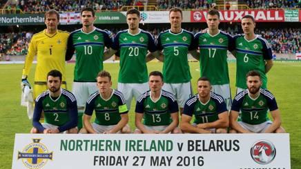 La formazione dell'Irlanda del Nord nell'amichevole con la Bielorussia. Lapresse