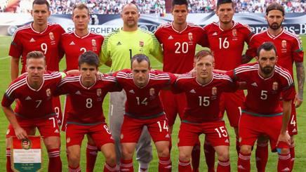 La formazione dell'Ungheria nell'amichevole con la Germania. Getty