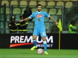 Il difensore del Napoli Raul Albiol, 30 anni. LaPresse