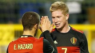 Eden Hazard e Kevin De Bruyne, due dei trequartisti pi� forti a Euro 2016. Epa