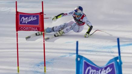 La discesa femminile a Cortina