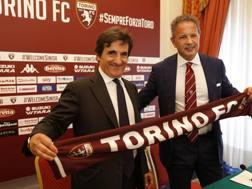 Il presidente del Torino Urbano Cairo e il tecnico Sinisa Mihajlovic. LaPresse