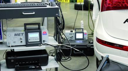 Test per il rilevamento di emissioni e consumi