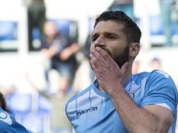 Antonio Candreva, 29 anni, centrocampista della Lazio e della Nazionale. Ansa