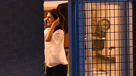 Virginia Raggi festeggia al telefono. Ansa