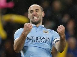 L'argentino del Manchester City Pablo Zabaleta. Reuters