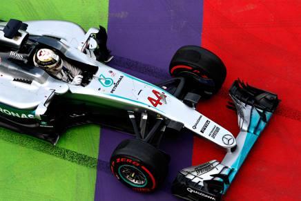 Lewis Hamilton, 30 anni, quinto a Baku: quest'anno ha vinto solo due GP a Montecarlo e a Montreal GETTY IMAGES