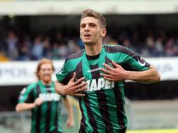 L'attaccante del Sassuolo Domenico Berardi, 21 anni. Ansa