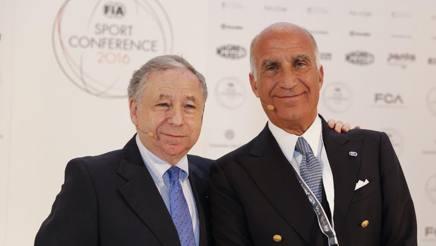Jean Todt, presidente Fia, con Sticchi Damiani, n.1 Aci. LaPresse