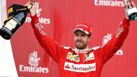 Vettel sul podio di Baku, dove ha chiuso 2�. Getty