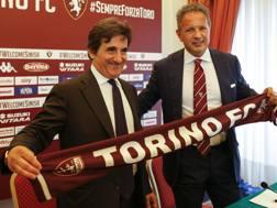 Il presidente del Torino Urbano Cairo con il tecnico Sinisa Mihajlovic. LaPresse