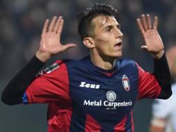 Ante Budimir, attaccante del Crotone, 25 anni. Lapresse.
