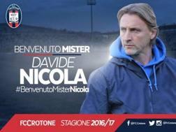 Il tecnico del Crotone Davide Nicola