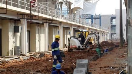 Una foto dei lavori al circuito di Interlagos scattata un paio di giorni fa