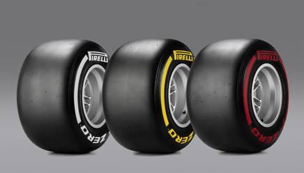 Le mescole scelte dalla Pirelli per lil Gp del Belgio (da sinistra: le medie, le soft e le supersoft)