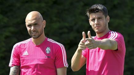 Simone Zaza, 24 anni e Alvaro Morata, 23 anni. Lapresse