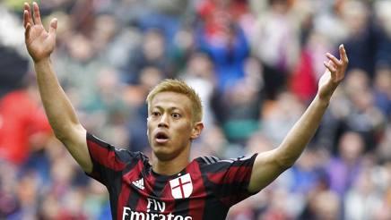 Keisuke Honda, centrocampista offensivo giapponese del Milan. LaPresse