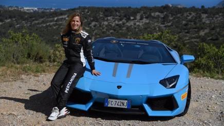 Michela Cerutti con la Lamborghini Huracan GT3