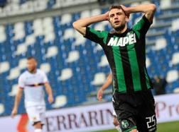 L'attaccante del Sassuolo, Domenico Berardi. Ansa