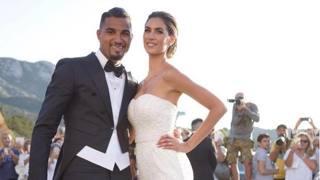 Kevin Prince Boateng e Melissa Satta: si sono sposati oggi a Porto Cervo in Sardegna. Instagram