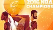L'illustrazione con cui Davide Barco ha celebrato l'anello dei Cleveland Cavaliers