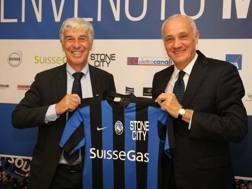 Gian Piero Gasperini con Antonio Percassi