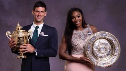 Novak Djokovic e Serena Williams trionfatori un anno fa. Epa