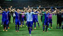 L'Islanda festeggia la storica qualificazione. Lapresse