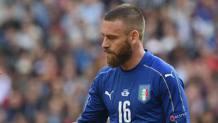 Daniele De Rossi , 32 anni, � uscito durante Italia-Spagna per infortunio. Getty