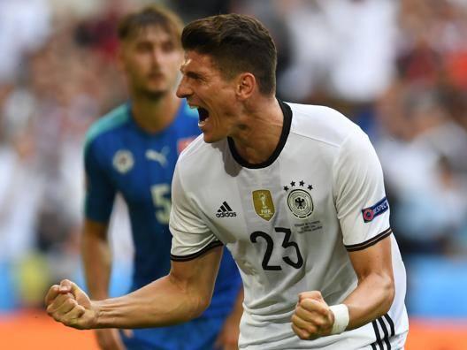 Mario Gomez, attaccante della Germania. Afp