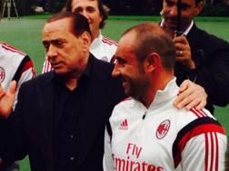Silvio Berlusconi con Cristian Brocchi