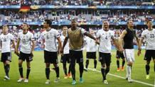 La Germania esulta  dopo il successo sulla Slovacchia. Lapresse
