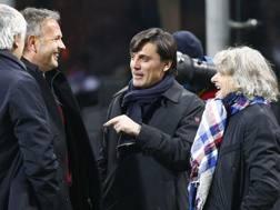 Da sinistra, Sinisa Mihajlovic, 47 anni, allenatore del Torino, e Vincenzo Montella, 42, tecnico del Milan. LaPresse