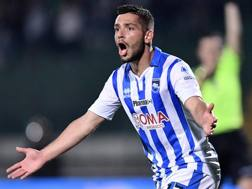 Gianluca Caprari, 22 anni, attaccante del Pescara. LaPresse